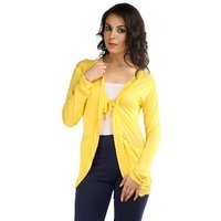 Wajbee Women Yellow Color Shrug