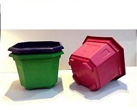 Hexagonal Plant Pot - Plastic Planters