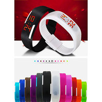 Led Silicon Bracelet Watch (Color May Vary)