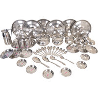 51 Pcs Dinner Set Stainless Steel