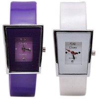 Prushti Glory Trendy Combo OF 2 Analog Watch For Women,Girls