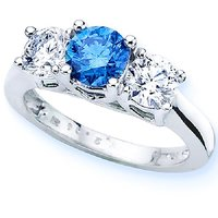 RM Jewellers CZ 92.5 Sterling Silver American Diamond Lovely Classic Ring For Women