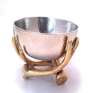 Silver Golde Fruit Bowl