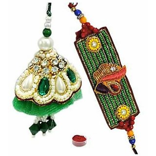 Couple Rakhi  Lumba Set