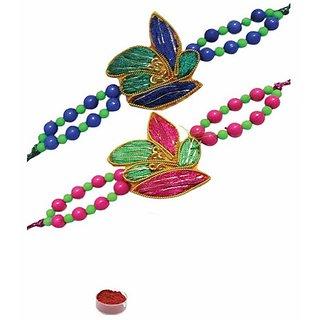 Gorgeous Design Rakhi Set of Two