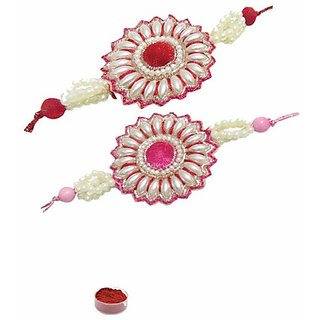 Attention-Getting Pearl Rakhi Set of Two
