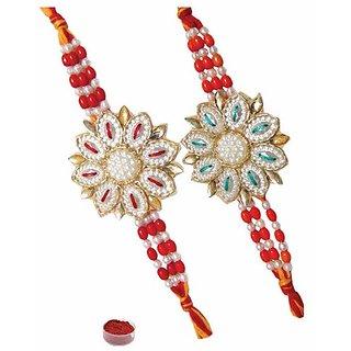 Enchanting Flower Rakhi Set of Two