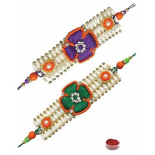 Exquisite Rakhi Set of Two