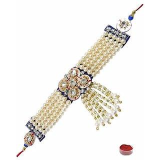 Premium Pearl  Stone Studded Rakhi