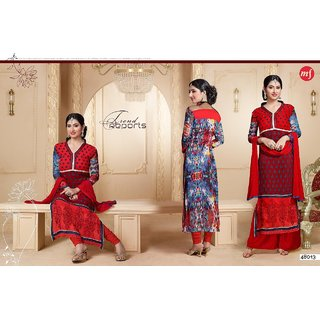 Fashionable Brasso Semi Stitched Salwar Kameez Dress Material-48013