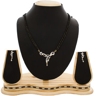 Gold Plated American Diamond Studded Mangalsutra MS-1331