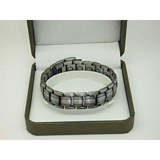 Mens Silver Colour Magnetic Bracelete