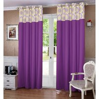 Lushomes Bold Printed Bloomberry Cotton Curtains with 8 Eyelets  Printed Tiebacks for Long Door (Single Pc)