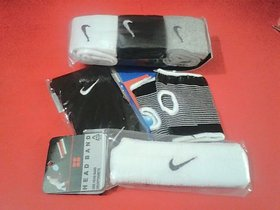 COMBO PACK OF PALM SUPPORT,,, WRIST BAND ,,HEAD BAND... IMPORTED BRANDED SOCKS IN ASSORTED...BRAND N COLOR..
