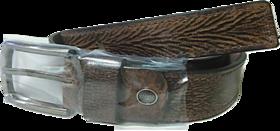 BATZ Mens Genuine Leather Belt Dark Brown Chocolate Colour
