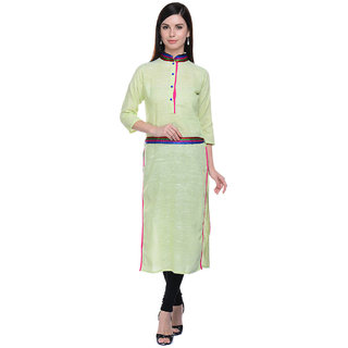 Lavennder Green Khadi Party Kurti