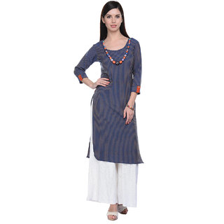 Lavennder Blue Khadi Party Kurti