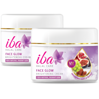 Iba Halal Care Face Glow Brightening Cream 50 gm (Pack of 2)
