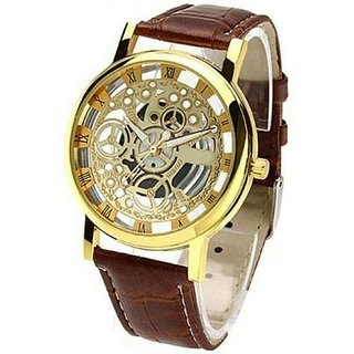 Analog Brown Dial Mens Watch
