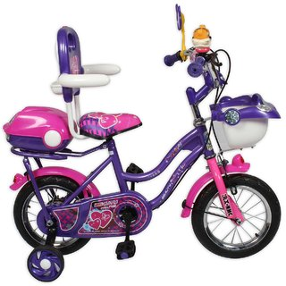 HLX-NMC KIDS BICYCLE 12 CAR-X PURPLE/PINK