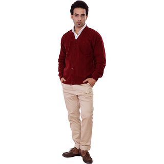 Pierre Carlo Mens Fullsleeve Sweater (1190-MEHROON)