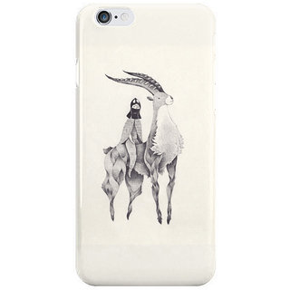 Dreambolic A Girl Over Huge Deer Back Cover For Iphone 6S Plus