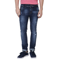 Super-X Blue Mid Rise Jeans For Mens