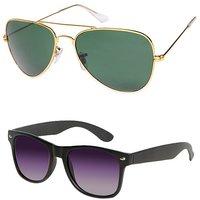 Magjons Aviator Sunglasses Combo Set of 2 With box MJ7740