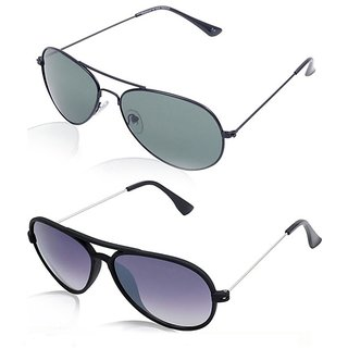 Magjons Aviator Sunglasses Combo Set of 2 With box MJ7730
