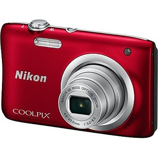 Nikon Coolpix A100 Point Shoot Camera(Red)