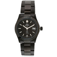 Swiss Military Stainless Steel Blk Women Date Swiss Movement Watch