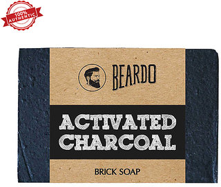Beardo Activated Charcoal Brick Soap 125 Gms