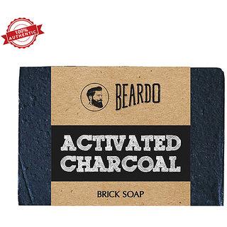 Beardo Activated Charcoal Brick Soap 125 Gms