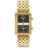 Swiss Military MenS Royal Gold Steel Swiss Movement Watch