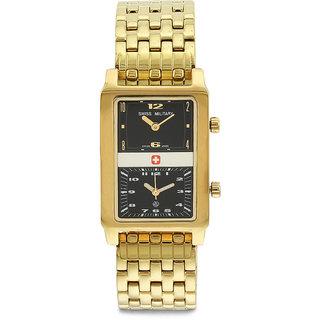 Swiss Military MenS Royal Gold Steel Swiss Movement Watch