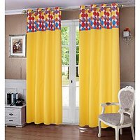 Lushomes Titac Printed Bloomberry Cotton Curtains for Door (Single Pc)