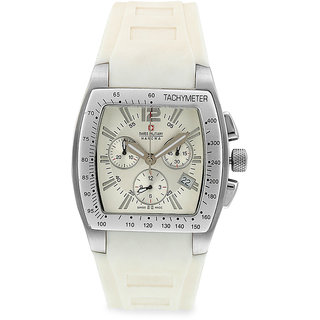 Swiss Military White Unisex Sports Chronograph Swiss Movement Watch