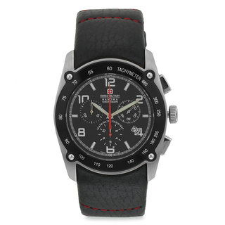 Swiss Military MenS Chronograph Swiss Movement Leather Watch