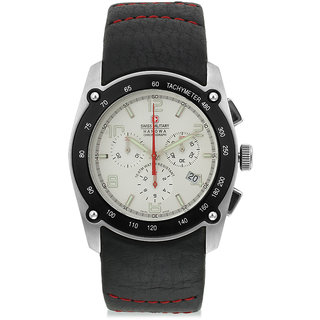 Swiss Military MenS Leather Chronograph Swiss Movement Watch