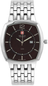 Swiss Military Unisex Cola Sqr Stainless Steel Swiss Movement Date Watch