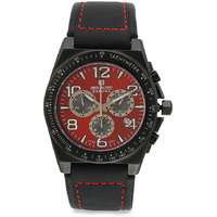 Swiss Military Red MenS Chronograph Swiss Movement Leather Watch