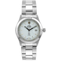 Swiss Military Stainless Steel White Women Date Swiss Movement Watch