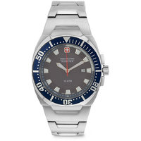 Swiss Military Stainless Steel Blue MenS Watch With Swiss Movemrnt