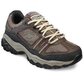Skechers MenS Brown Running Shoes (50124-BRBK)
