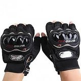 Pro Biker Motorcycle Black Gloves