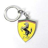 FERRARI Metal Key Chain Ring Fancy Chrome Plated Keychains Sports Car Logo FREE SHIPPING
