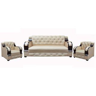 Tezerac -Seagrass 3+1+1 Sofa Set - Beige