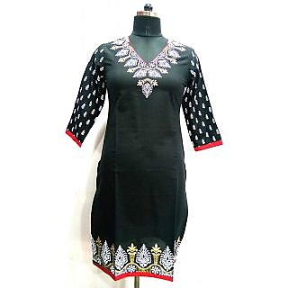 Jaypore Fashion Black Printed Kurti