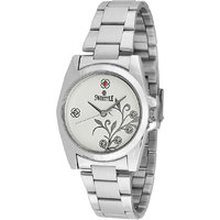 Swis Style Lr008 White Dial Metal Chain Analog Watch For Women