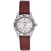Swis Style Lr069 White Dial Leather Strap Analog Watch For Women